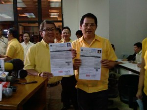 Bro Eddie And Perfecto Yasay Filing their COC