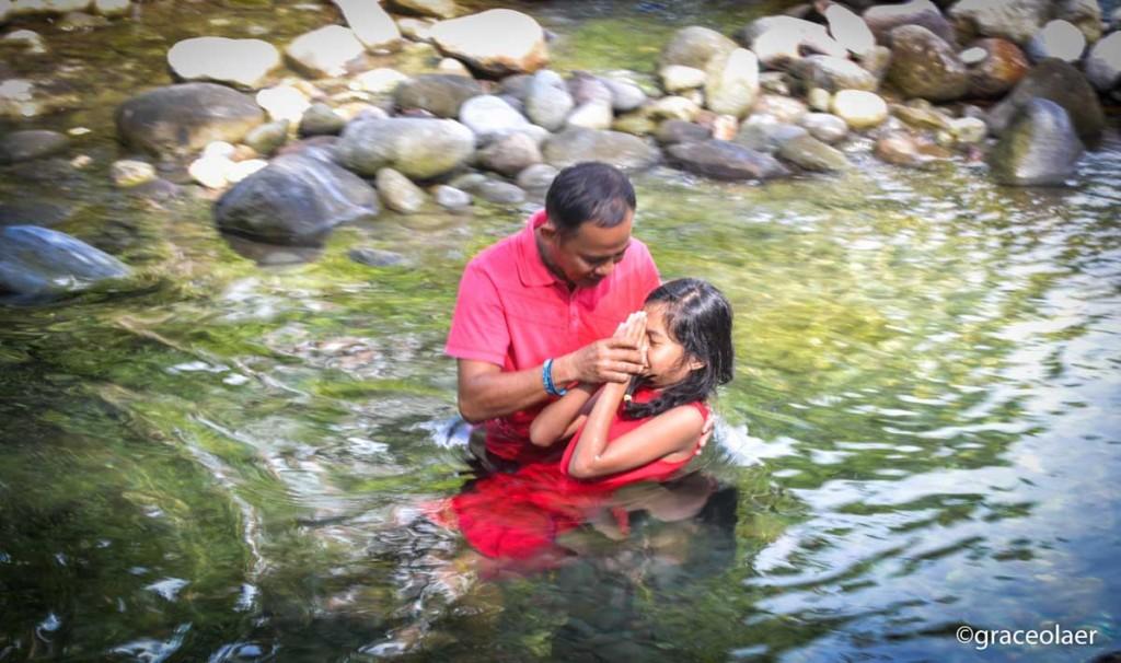 Jane Getting Baptized
