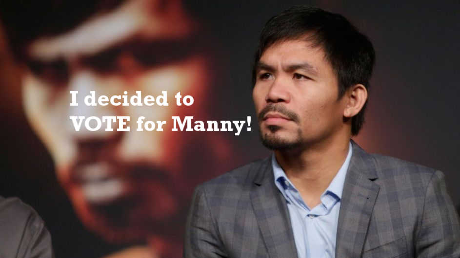 I Decided to Vote for Manny