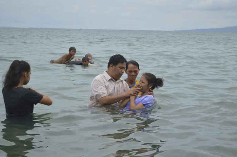 Baptized 3 New Believers Today