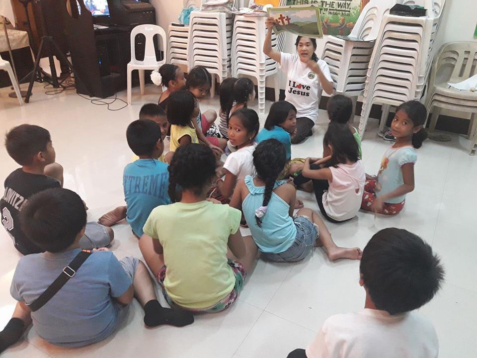 Grace Teaching in Vacation Bible School